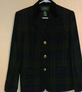 Vintage Lauren Ralph Lauren plaid wool blazer